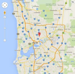 Map of Perth locating Home From Home